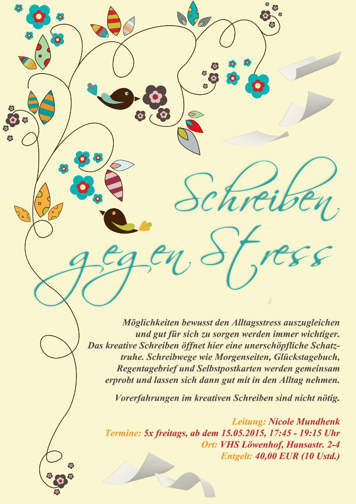 Nicole Mundhenk Schreiben gegen Stress
